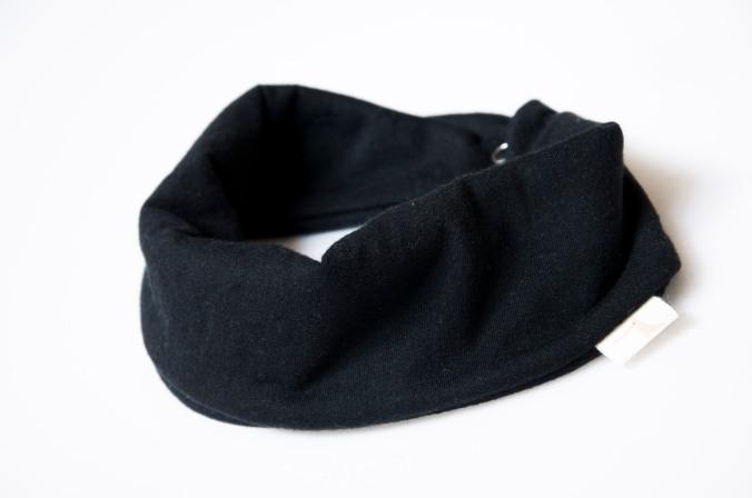 jersey scarf bib black